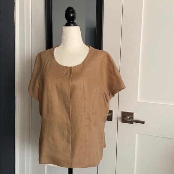 Planet 100% Linen Jacket Plus Size 16